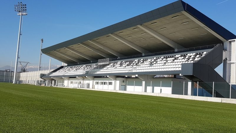 The new Juventus training center, named J Village, has been inaugurated in the Continassa area